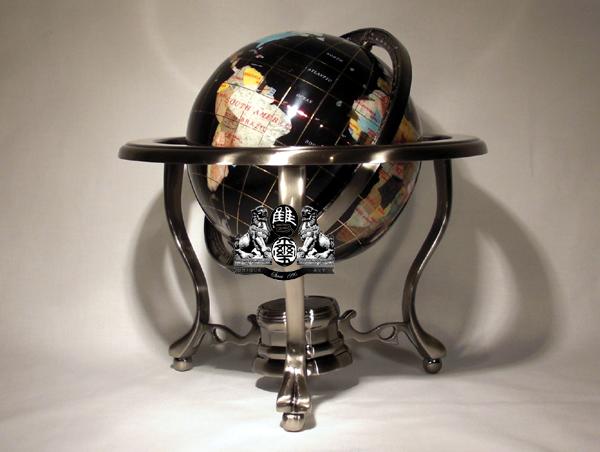 Unique art4you the finest gemstone globes world maps and wood globes 11 3 leg black onyx gemstone globe gumiabroncs Image collections