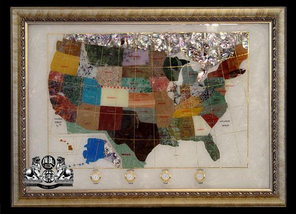 Gemstone World Map.Unique Art4you The Finest Gemstone Globes World Maps